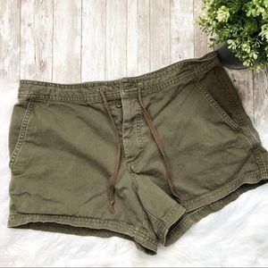 J.CREW Navy Green Button up Shorts